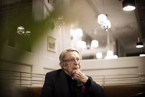 Timo Kirves kahvila Strindbergissä tammikuussa 2020.