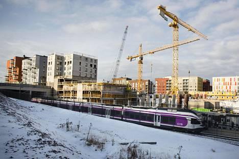 Vantaan Kivistössä on rakenteilla lähes 800 asuntoa.