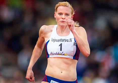 Hanna-Maari Latvala otti Porissa neljännen peräkkäisen Suomen mestaruutensa sadalla metrillä.