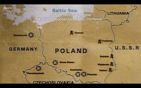 Tästä kartasta Puolan korjausvaatimuksessa on kyse.