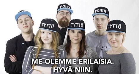 Perussuomalaisten nuorten sukupuolikampanjan kuva järjestön sivuilta.