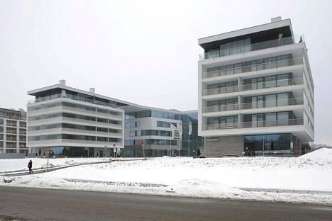 Alma Median pääkonttori sijaitsee Helsingissä Töölönlahdella.
