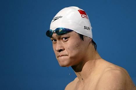 Sun Yang voitti Lontoon olympialaisissa kaksi kultaa.