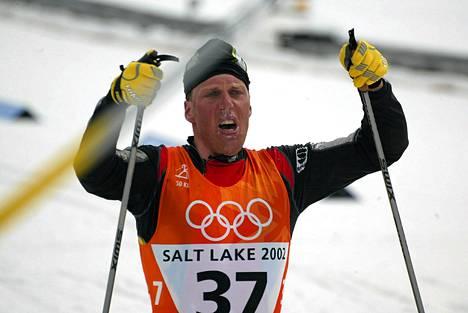 Johan Mühlegg tuuletti 50 kilometrin voittoa Salt Laken talvikisoissa.