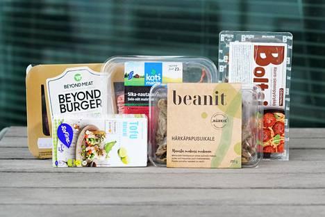 Myös Suomessa on markkinoilla kasvipohjaisia tuotteita, joiden nimet tuovat mieleen punaisen lihan.