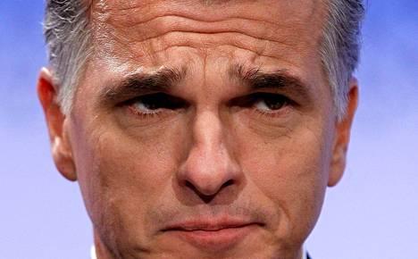 UBS:n toimitusjohtaja Sergio Ermotti kuunteli lokakuussa toimittajien kysymyksiä Zürichissä.