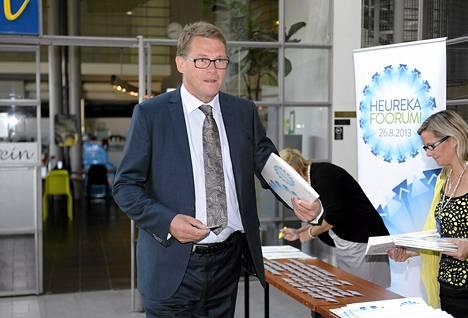 Matti Vanhanen osallistui maanantaina Heureka-foorumiin.