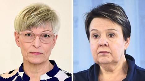 Sisäministeriön uusi kansliapäällikkö Kirsi Pimiä ja