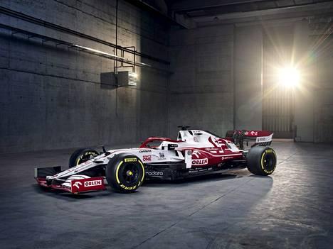 Tämän näköisellä autolla Kimi Räikkönen ajaa tulevalla F1-kaudella.