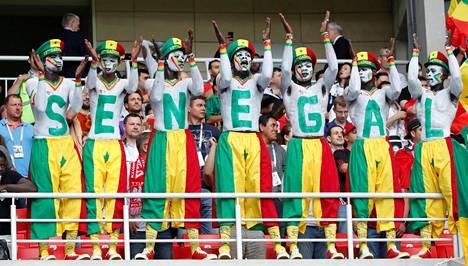 Senegalin kannattajat jättivät itsestään hyvän kuvan Moskovassa.