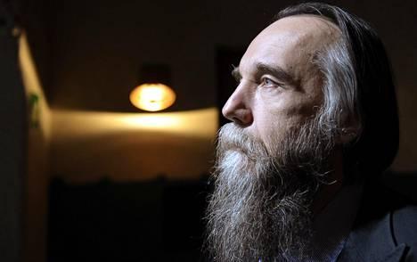 Venäläinen politologi, Moskovan valtionyliopiston professori Aleksandr Dugin vieraili Helsingissä toukokuussa 2014.
