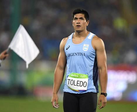 Argentiinalainen keihäänheittäjä Braian Toledo osallistui Rion olympialaisiin.