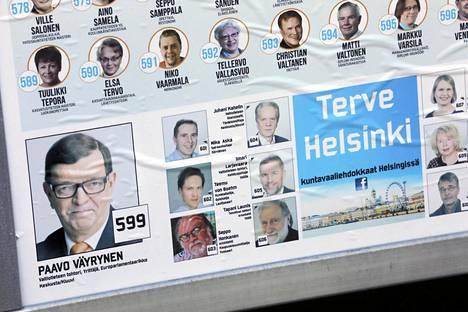 Kristilliset jättivät vaalimainoksestaan pois neljä Terve Helsinki -ryhmään kuuluvaa ehdokasta.
