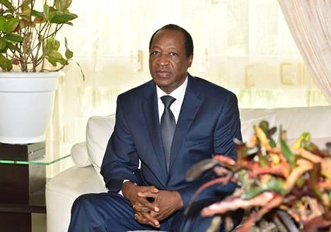 Burkina Fason entinen presidentti Blaise Compaoré lokakuussa 2014.