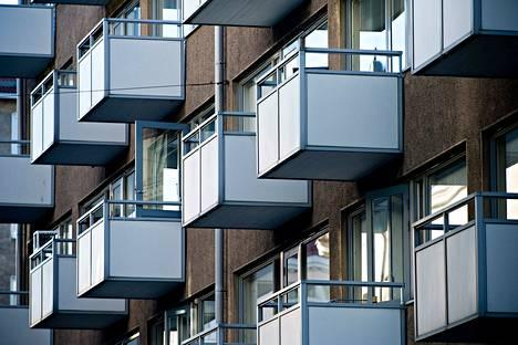 Asumismenot vaihtelevat paljon eri puolilla maata. Kuva on Helsingistä.