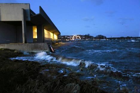 Roskilden viikinkimuseo Tanskassa perjantaina.