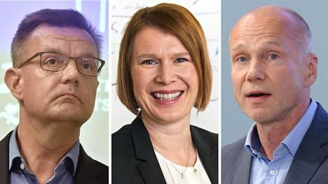 Juha Jolkkonen, Sanna Svahn ja Timo Aronkytö.