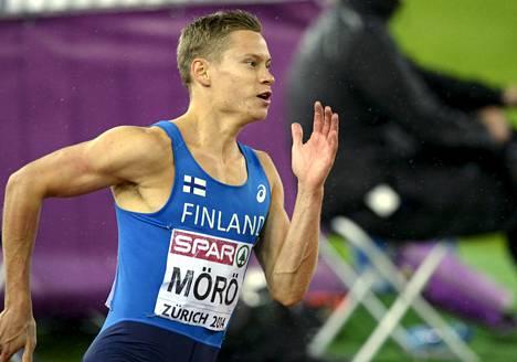 Oskari Mörö ei yltänyt loppukilpailussa yhtä hyvään vauhtiin kuin aiemmissa EM-juoksuissaan.