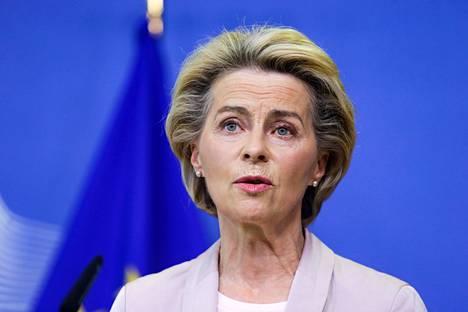 Komission puheenjohtaja Ursula von der Leyen.