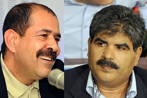 Tunisialainen poliitikko Mohamed Brahmi (oik.) murhattiin samantyyppisellä aseella kuin oppositiojohtaja Chokri Belaid.
