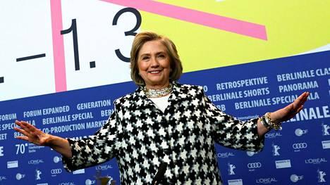 Hillary Clinton vieraili Berliinin elokuvajuhlilla.