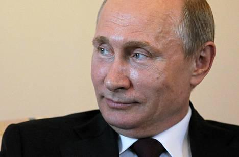 Venäjän presidentti Vladimir Putin 16. maaliskuuta Kremlissä Moskovassa.