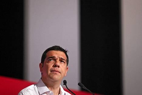 Kreikan pääministeri Alexis Tsipras puhui torstaina puolueen keskuskomitealle.