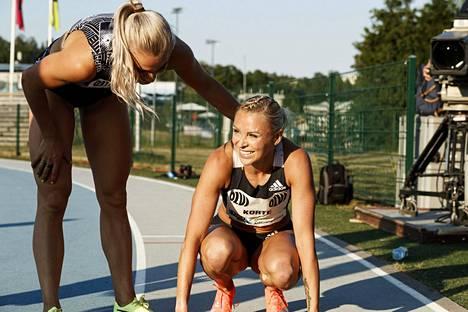 Annimari Korte aitoi lauantaina Espoossa kauden kotimaiseksi kärkiajaksi 12,81.
