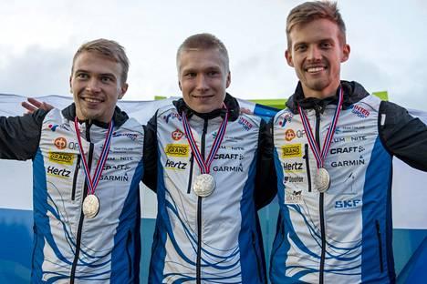 Miika Kirmula, Elias Kuukka ja Aleksi Niemi saavuttivat uransa ensimmäisen aikuisten MM-mitalin.