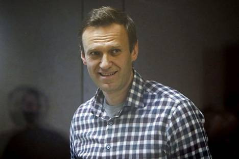 Aleksei Navalnyi kuvattiin oikeussalissa Moskovassa 20. helmikuuta.