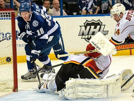 Tampa Bayn Ondrej Palat onnistui ainoana pelaajana yllättämään Calgaryn Karri Rämön yön NHL-kierroksella.