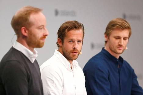 Zalandon toimitusjohtajat ovat Rubin Ritter (vasemmalla), Robert Gentz ja David Schneider.