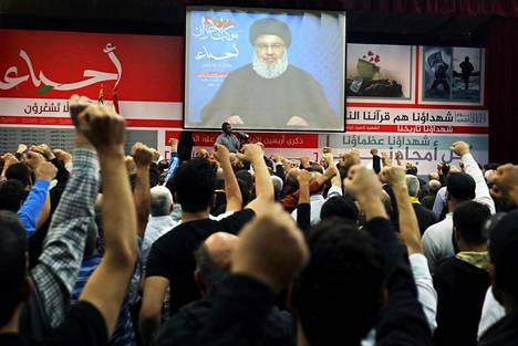 Libanonin Hizbollah-johtaja Hassan Nasrallah arvosteli kovin sanoin Saudi-Arabiaa perjantaina.