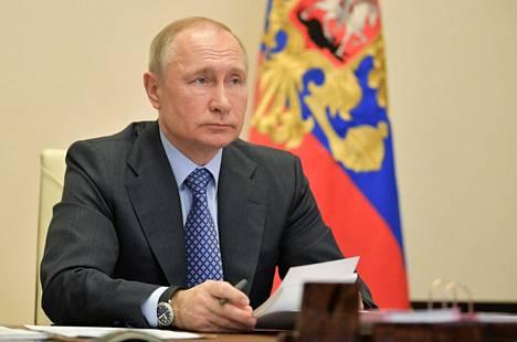 Venäjän presidentti Vladimir Putin osallistui tiistaina videolinkin kautta Euraasian talousunionin kokoukseen.