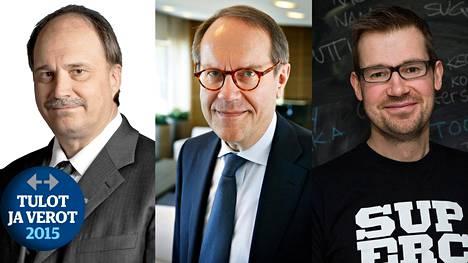 Suomen suurituloisimmat henkilöt olivat Juha Hulkko, Jorma Ollila ja Mikko Kodisoja.