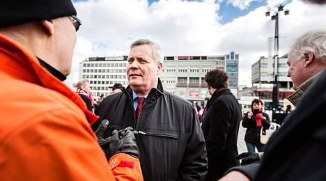 Antti Rinne kävi vaalien alla myös Kuopiossa.