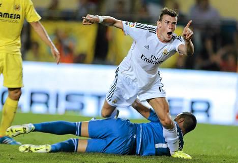 Näin Gareth Bale tuuletti ensimmäistä maaliaan Espanjan liigassa.