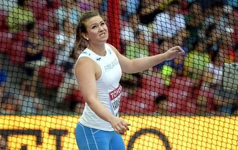 Sanna Kämäräinen yleisurheilun MM-kisoissa Pekingissä vuonna 2015.