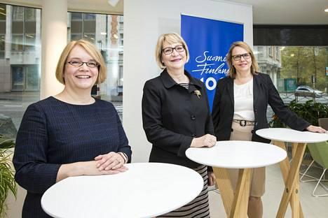 Minna Kivimäki, Marja Rislakki ja Sofie From-Emmesberger
