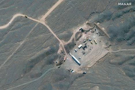 Satelliittikuva näyttää Iranin Natanz-ydinrikastamon. Se sijaitsee Isfahanissa Iranissa. Kuva on lokakuulta 2020.