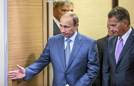 Vladimir Putin ja Sauli Niinistö tapasivat Venäjällä elokuussa.