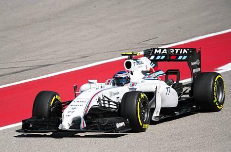 Williamsin Valtteri Bottas oli Yhdysvaltain GP:n aika-ajoissa kolmas.
