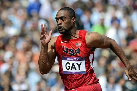 Tyson Gay on taas huippukunnossa,. Kuva elokuulta 2012.