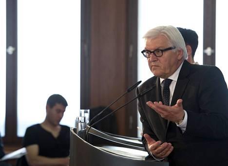 Saksan ulkoministeri Frank-Walter Steinmeier tapasi torstaina Berliinissä ulkomaisia toimittajia.