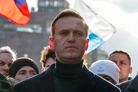 Venäjän keskeisin oppositiojohtaja Aleksei Navalnyi osallistui murhatun oppositiopoliitikon Boris Nemtsovin muistomarssiin viime helmikuussa Moskovassa.