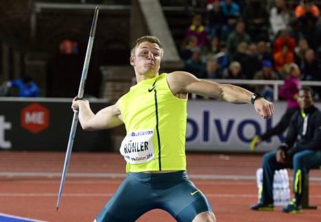 """Röhlerin ennätysheitto toi miehelle muhkean saaliin: palkintorahoja yhteensä 38<span class=""""nbsp"""">&nbsp;</span>00 euroa, timantin ja paikan MM-kisoissa."""