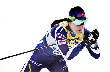Krista Pärmäkoski kuuluu Suomen mitalitoivoihin Seefeldissä.