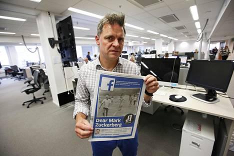 Aftenpostenin päätoimittaja Espen Egil Hansen kirjoitti syyskuun alussa avoimen kirjeen Facebookin perustaja Mark Zuckerbergille.