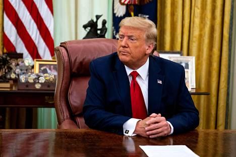 Yhdysvaltain presidentti Donald Trump Valkoisessa talossa keskiviikkona.