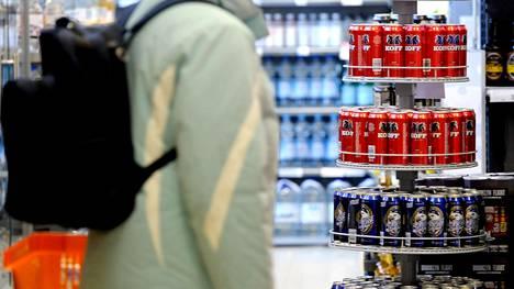 Kalja, siideri ja lonkero ovat Malminmäen K-kaupassa varastetuimpien tuotteiden listalla, kuten monissa muissakin kaupoissa.